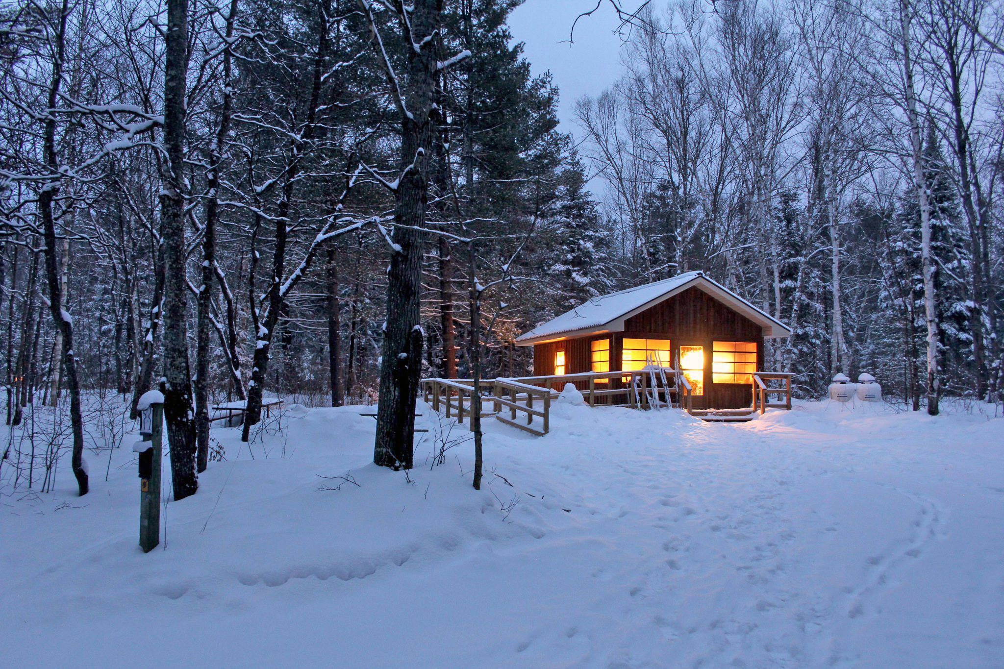 Winter Home in woods