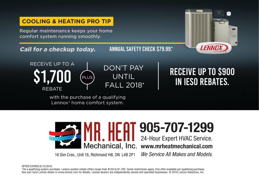 Lennox Winter 2018 National Promotion Mr. Heat Mechanical Inc.